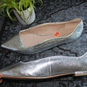BCBGeneration Shoes - New BCBGeneration Nikita Metallic Silver Flats